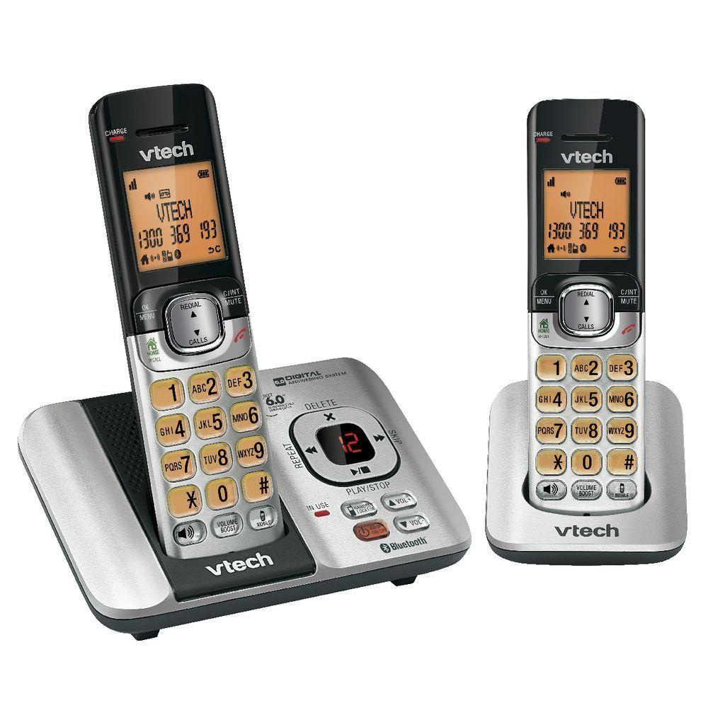 vtech 15550 twin 2 handset bluetooth cordless telephone. Black Bedroom Furniture Sets. Home Design Ideas