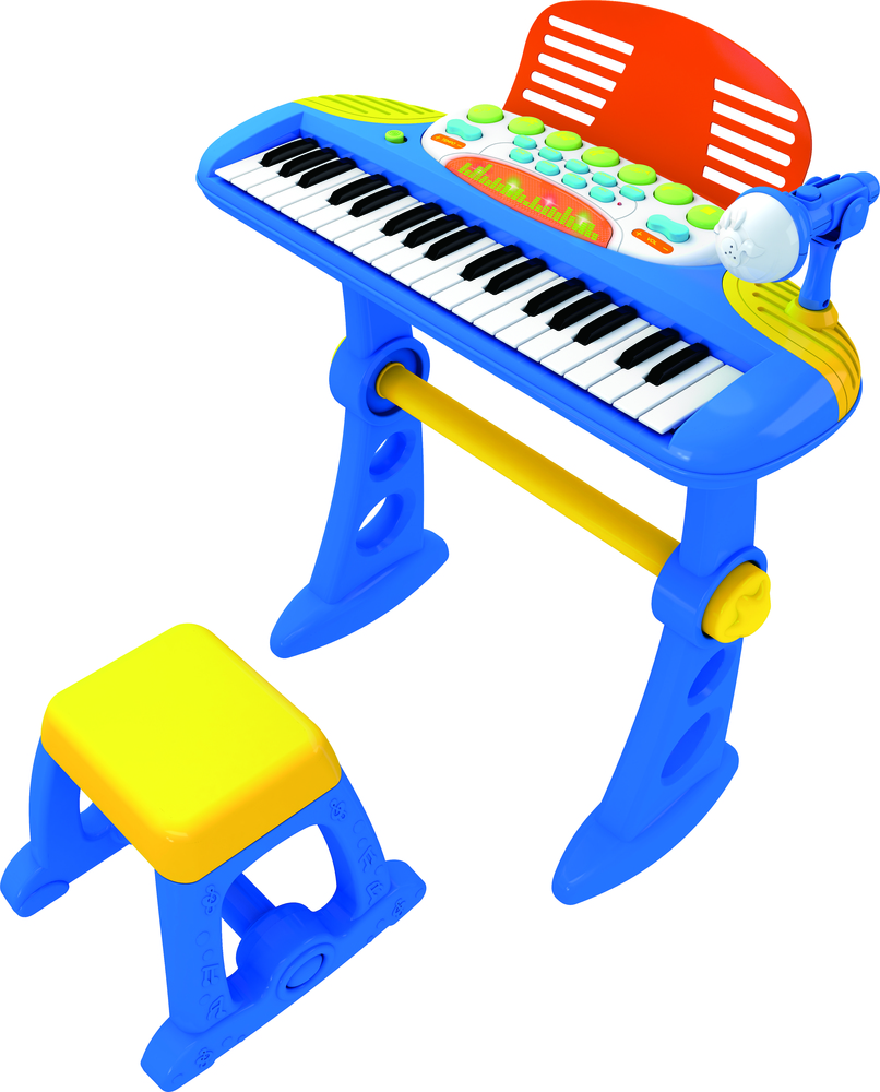 Electronic Musical Keyboard Piano Blue For Kids Musica