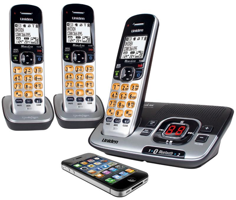 Uniden Dect 3136bt 2 Cordless Bluetooth Phone 3 Handset
