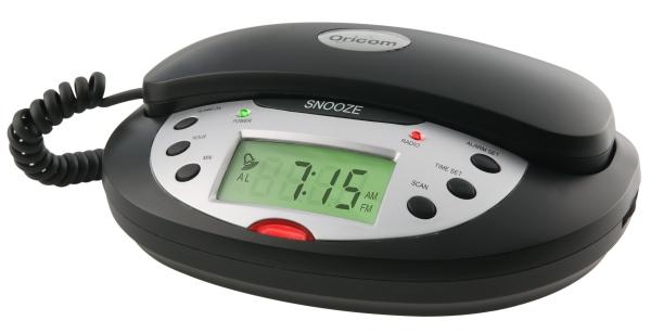 Oricom Clock Radio Black Telephone Tcr10 Rcr10 Au 119