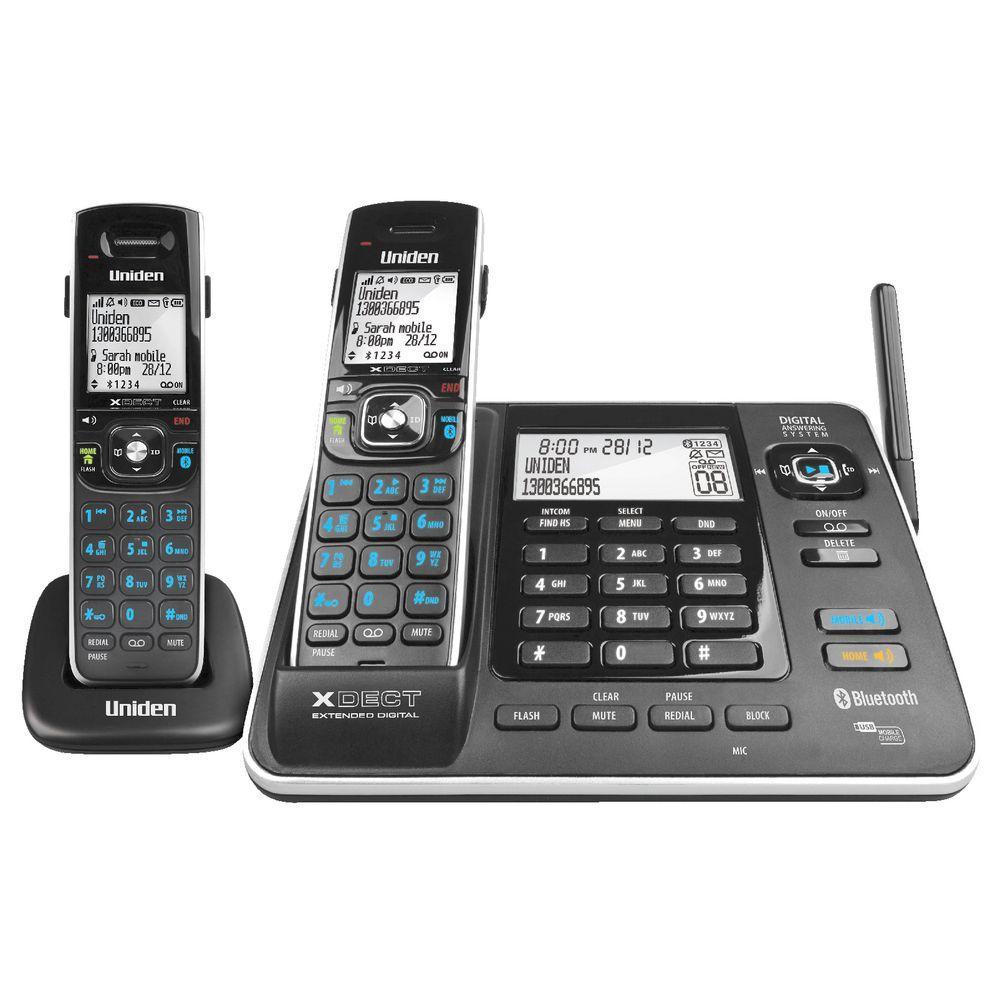 UNIDEN XDECT 8355+1 1.8GHZ DIGITAL CORDLESS PHONE 2 HANDSETS