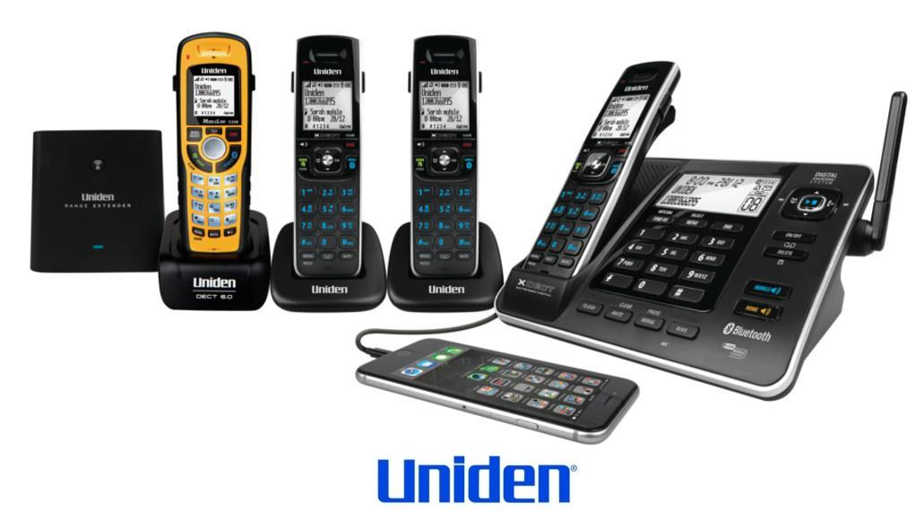 UNIDEN XDECT 8355+3WPR 1.8GHZ DIGITAL CORDLESS PHONE 4 HANDSETS