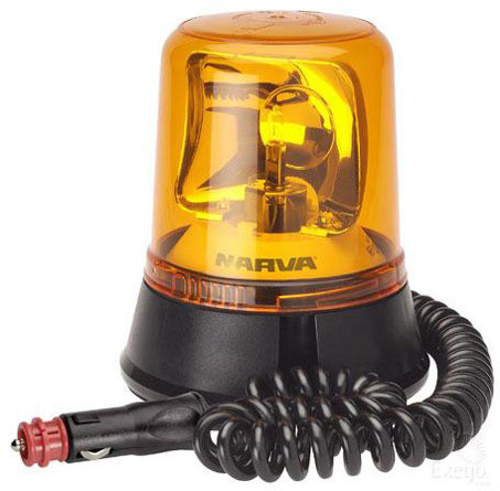Narva 85658a Magnetic Rotating Light Beacon Amber 12 24