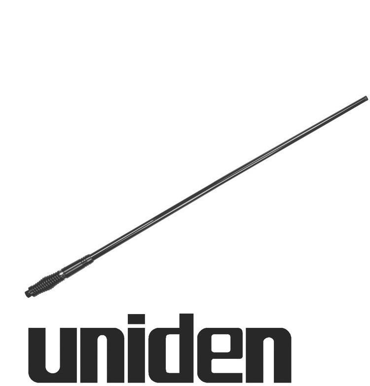 UNIDEN AT890BK FIBREGLASS UHF UHF CB ANTENNA 6.6DBi BLACK 1M