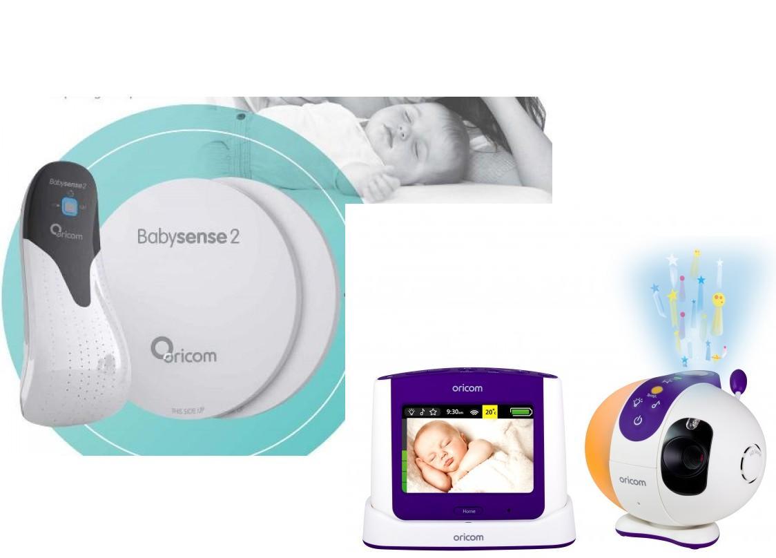 ORICOM SECURE 870 BABY MONITOR+BABYSENSE 2 INFANT RESPIRATORY PK