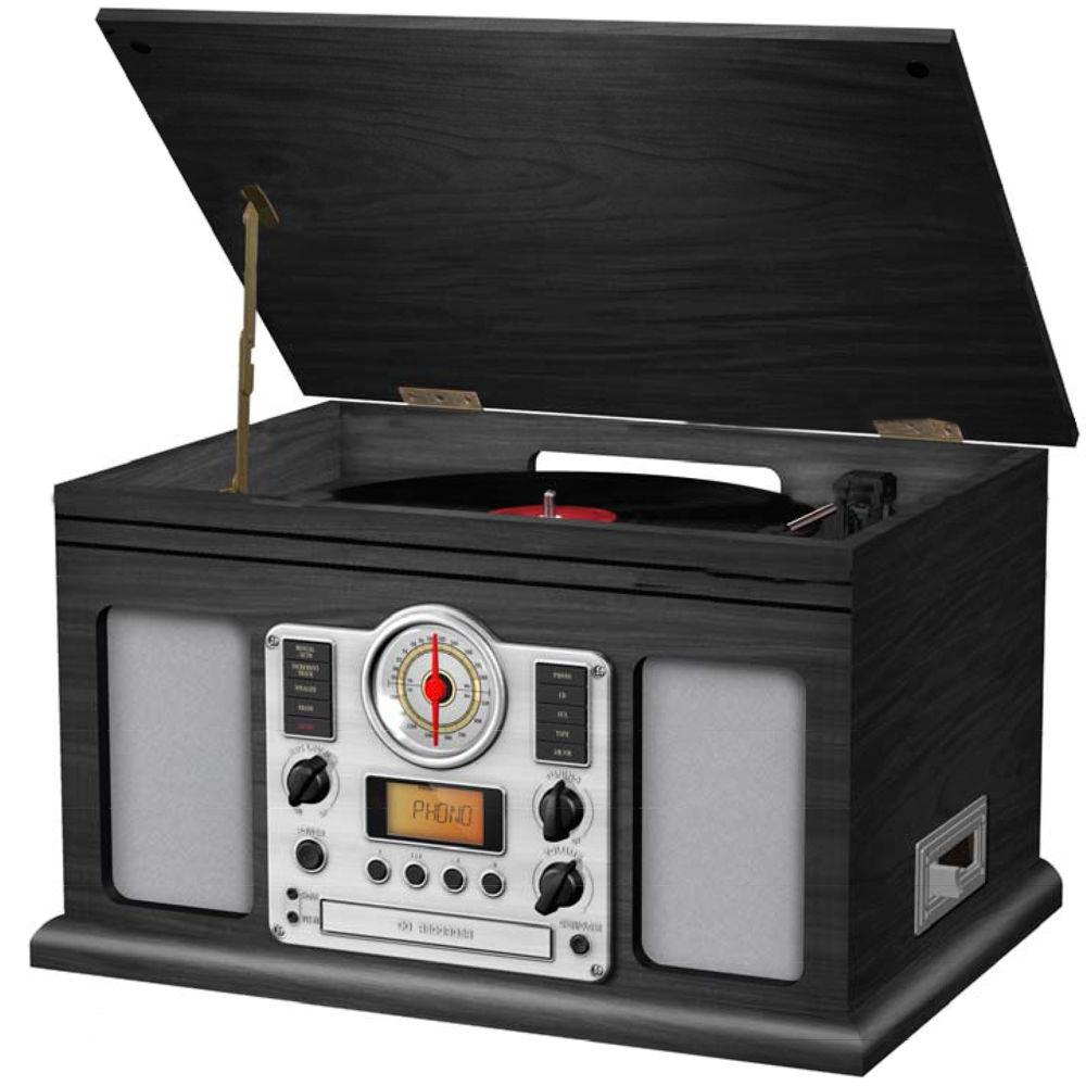 LENOXX CD117C VINYL TURNTABLE TAPE PLAYER CD BURNER RECORDER