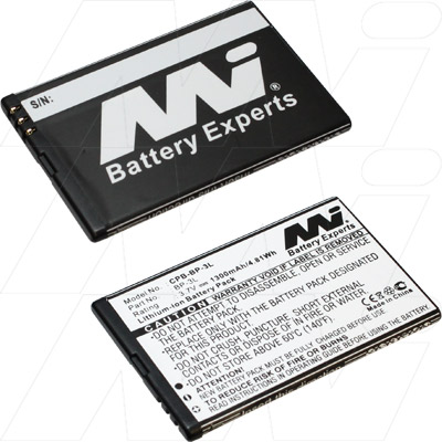 NOKIA  BP-3L MOBILE REPLACEMENT BATTERY