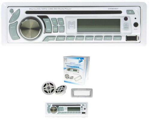 CRYSTAL AUDIO MARINE CD PLAYER+SPEAKERS+USB MP3 SD AUX AM RADIO