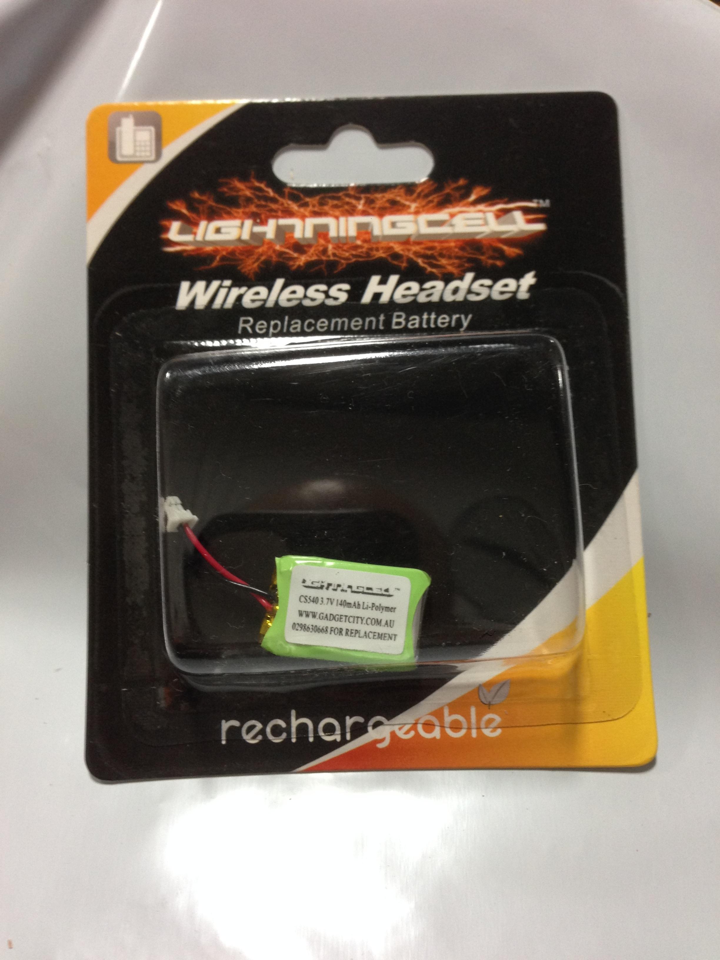 Plantronics Cs540 Replacement Wireless Headset Battery