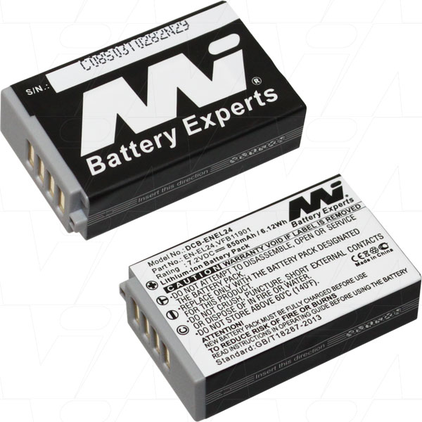 NIKON DCB-ENEL24-BP1 DIGITAL CAMERA BATTERY