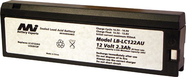 PANASONIC SEALED LEAD ACID BATTERY - LB-LCS122AU
