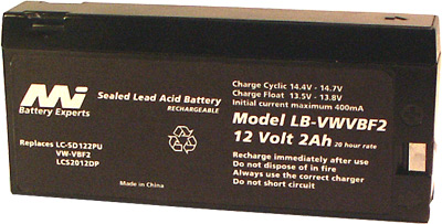 PANASONIC SEALED LEAD ACID BATTERY - LB-VWVBF2