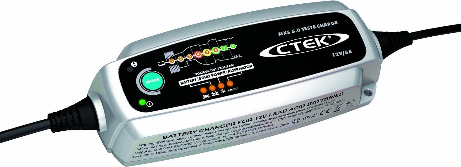 Nya CTEK MXS 5.0 TEST AND CHARGE BATTERY CHARGER 12 VOLT 5A GZ-84