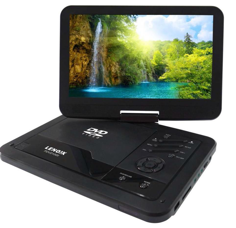 "LENOXX 10.1"" INCH PORTABLE DVD PLAYER SWIVEL SCREEN PDVD1000 DVD"