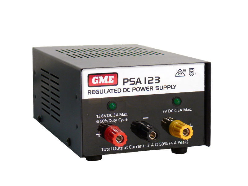 GME PSA123 12 VOLT DUAL VOLTAGE POWER SUPPLY 4 AMP