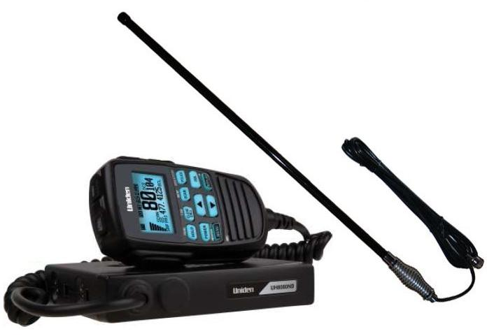 UNIDEN UH8080S 80 CHANNEL UHF+SCANNER+CH5T BLACK 5DB AN