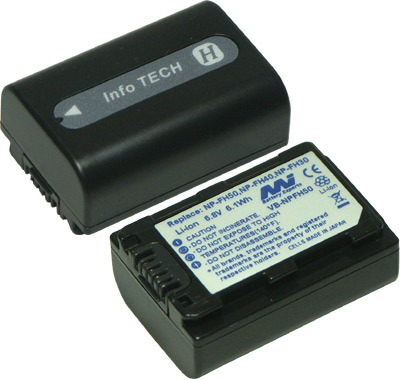 SONY NPFH100 NP-FH50 NPFH70 VIDEO CAMERA BATTERY - VB-NPFH50