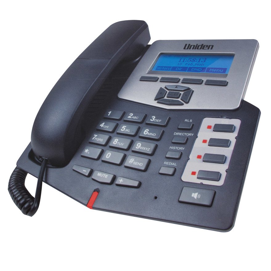 Uniden Vp100 Voip Internet Corded Telephone 2 Sip Line