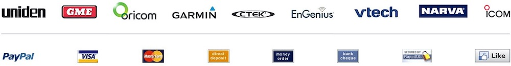 Authorised reseller for Uniden, GME, Oricom, Garmin, CTEK, EnGenius, Telstra, Lutron, Swann