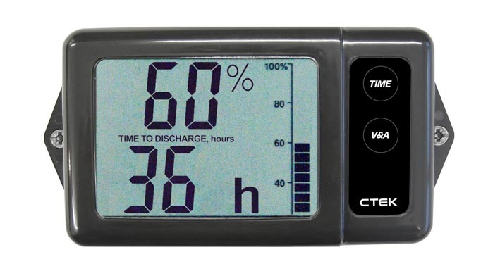 Marine Battery Charger And Monitor : Ctek digital battery monitor display suit v dc ds s