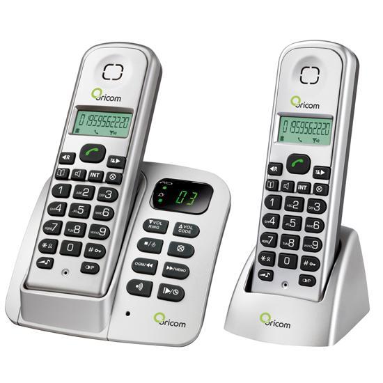 Oricom Eco700 2 Dect Digital Cordless Phone Twin Pack W