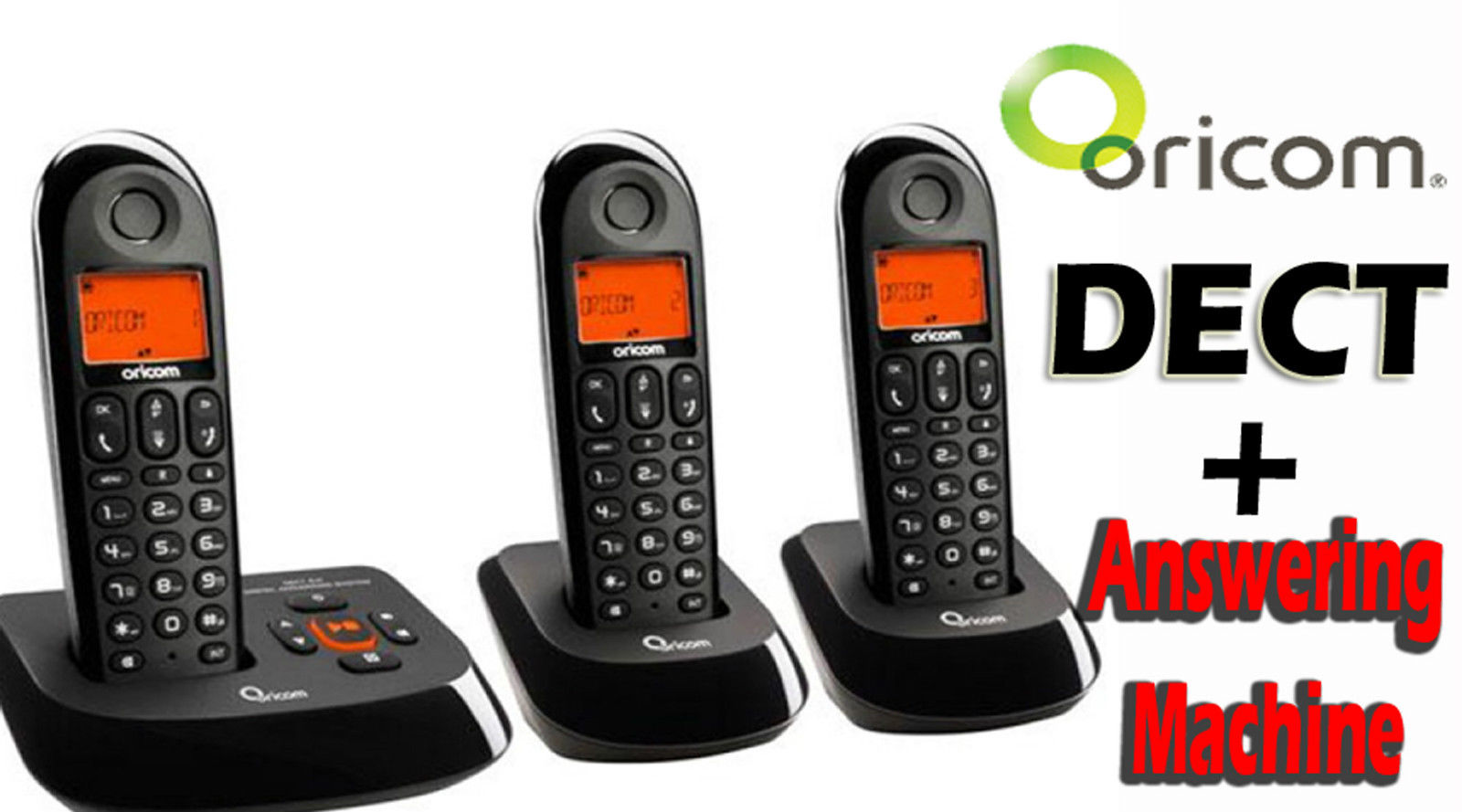 ORICOM ECO710-3 Digital Cordless Telephone SYSTEM 3 handsets