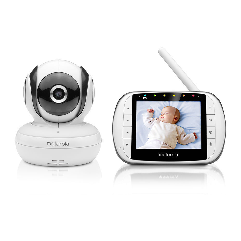 motorola mbp36 s deluxe video and sound baby monitor m. Black Bedroom Furniture Sets. Home Design Ideas