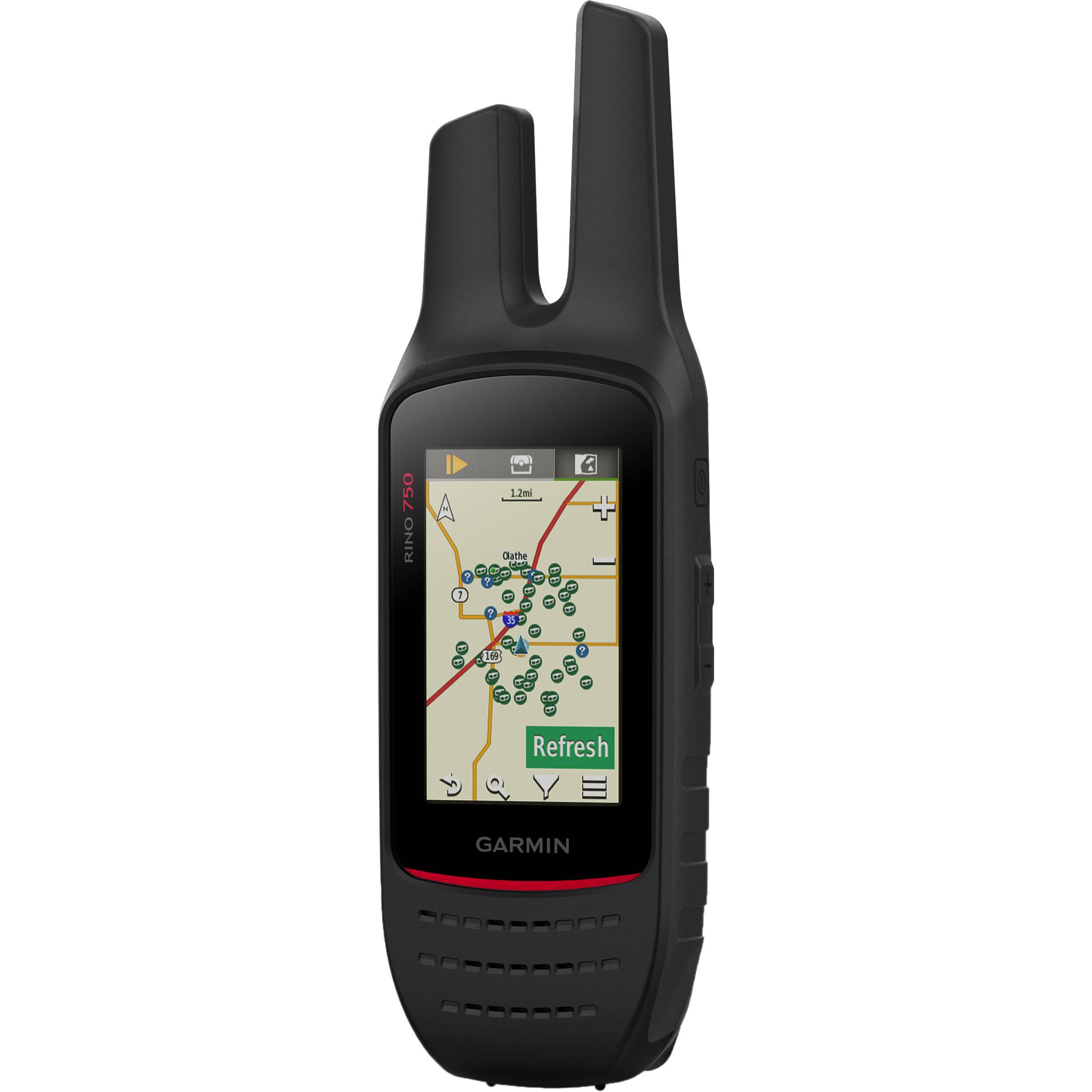 GARMIN RINO 750 UHF 5W RADIO TOUCHSCREEN GPS HANDHELD RUGGED
