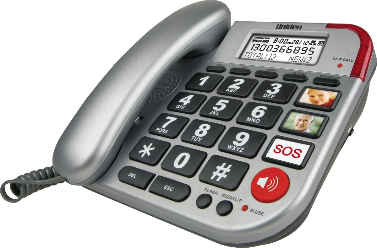 Uniden Sse33 Emergency Seniors Corded Phone Sse33 Au