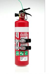 QUELL 1KG FIRE EXTINGUISHER ABE 1A: 10B:E AUTO+RECREATIONAL USE