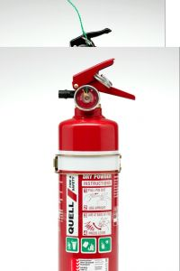 QUELL 1.5KG FIRE EXTINGUISHER ABE 2A: 20B:E HOME+WORKSHOP USE+