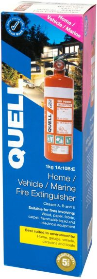 QUELL 1KG FIRE EXTINGUISHER 1A: 10B:E HOME VEHICLE MARINE STRONG