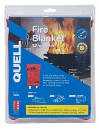 QUELL FIRE BLANKET 1.2M X 1.8M CLAMSHELL AUSTRALIAN COMPLIED AS/