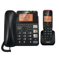 VTECH DECT CORDED CORDLESS PHONE COMBO HANDSFREE+ANSWER MACHINE