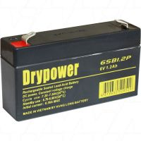 DRYPOWER 6V LEAD ACID 1.2A RECHARGEABLE BATTERY 6SB1.2P