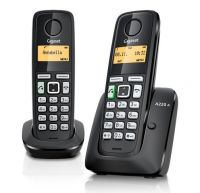 SIEMENS GIGASET A220A DUO CORDLESS PHONE & ANSWER MACHINE