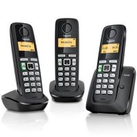 SIEMENS A220A TRIO TRIPLE PACK CORDLESS PHONE & ANSWER MACHINE