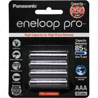 PANASONIC 950MAH 8 PACK ENELOOP RECHARGEABLE AAA BATTERIES