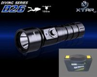 XTAR LED SCUBA DIVING D26 DIVE TORCH FLASHLIGHT