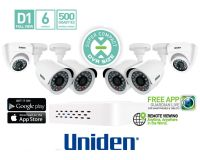 UNIDEN INDOOR OUTDOOR WIRED 24/7 6 CAMS 1TB HOME CAMERA SYSTEM