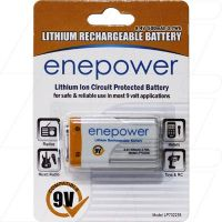 ENEPOWER LP702235 500mAh 9V LITHIUM RECHARGEABEL BATTERY