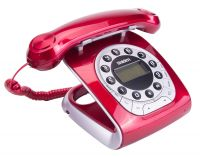 UNIDEN MODRO 15 RED RETRO STYLE CORDED PHONE