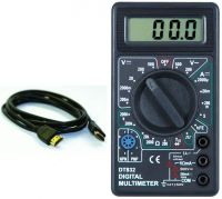 2M HDMI CABLE+DIGITAL MULTIMETER PACKAGE