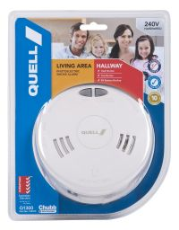 Quell Photoelectric Smoke Alarm 240V, new safety compliant Q1300