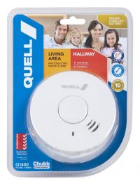 QUELL LIVING AREA/HALLWAY PHOTOELECTRIC SMOKE ALARM 10 YEARS WTY