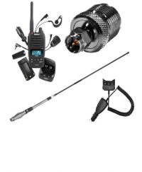 UNIDEN UH850s 5 WATT UHF+AT880 ANT+CAR CHARGER PACK