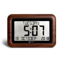 ORICOM VISO10BR BROWN DIGITAL CLOCK WITH 8 INCH LCD DISPLAY AND