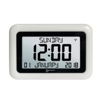 ORICOM VISO10WH WHITE DIGITAL CLOCK WITH 8 INCH LCD DISPLAY