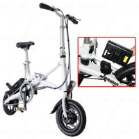 "MONDIA CAVALIER FOLDABLE eBIKE ELECTRIC 12"" WHEELS 18KpH white"