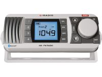 GME GR300BTW AM/FM MARINE RADIO WITH BLUETOOTH AUDIO WHITE